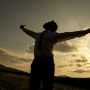 man experiencing spiritual power